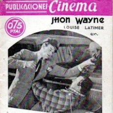 Cine: JOHN WAYNE : TITANES DE LA VELOCIDAD (1937) ARGUMENTO Y FOTOS DEL FILM.. Lote 141475270