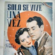 Cine: SOLO SE VIVE UNA VEZ CON HENRY FONDA, CINEVIDA, . Lote 142174442