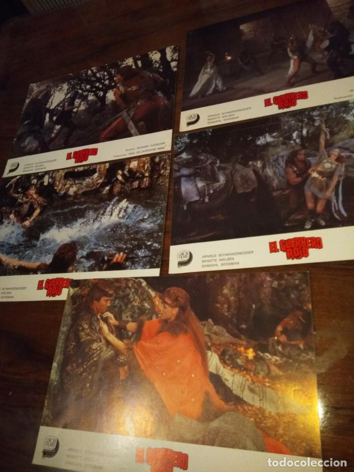 Cine: COLECCION DE 5 FOTO FILMS DE CINE : EL GUERRERO ROJO ( ARNOLD SCHWARZENEGGER & BRIGITTE NIELSEN ) ) - Foto 2 - 142615478
