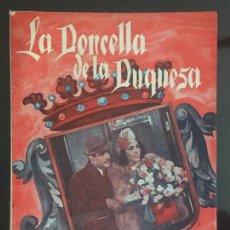Cine: LA DONCELLA Y LA DUQUESA. EDICIONES BISTAGNE.. Lote 143041090
