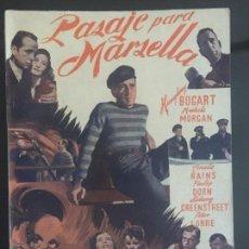 Cine: PASAJE POR MARSELLA - NOVELA SEMANAL CINEMATOGRAFICA. EDICIONES BISTAGNE.. Lote 143042538
