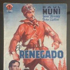 Cine: NOVELA , GUION CINEMATOGRAFICO , EL RENEGADO , 72 PAG , ORIGINAL. Lote 143043594