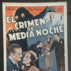 Cine: EL CLIMEN DE MEDIA NOCHE - BIBLIOTECA FILMS NACIONAL. EDITORIAL ALAS.. Lote 143045398