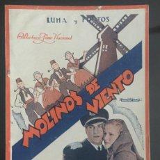 Cine: MOLINOS DE VIENTO - BIBLIOTECA FILMS NACIONAL. EDITORIAL ALAS.. Lote 143045594