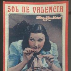 Cine: SOL DE VALENCIA - BIBLIOTECA FILMS NACIONAL. EDITORIAL ALAS.. Lote 143045954