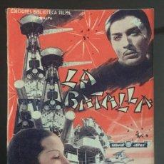 Cine: LA BATALLA - BIBLIOTECA FILMS NACIONAL. EDITORIAL ALAS.. Lote 143046478