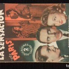 Cine: LA SENSACION DE PARIS. PUBLICACIONES CINEMA. BARCELONA.. Lote 146452678