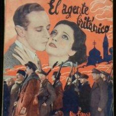 Cine: EL AGENTE BRITANICO. EDICIONES BISTAGNE. Lote 146455538
