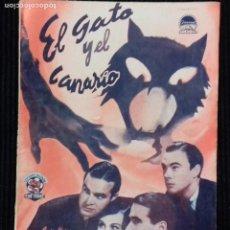Cine: EL GATO Y EL CANARIO EDICIONES BISTAGNE.. Lote 146547586