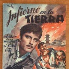 Cine: INFIERNO EN LA TIERRA. EDICIONES BISTAGNE. SERIE TRIUNFO.. Lote 146649270