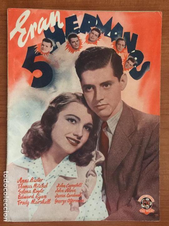 ERAN 5 HERMANOS. EDICIONES BISTAGNE. SERIE TRIUNFO. (Cine - Foto-Films y Cine-Novelas)