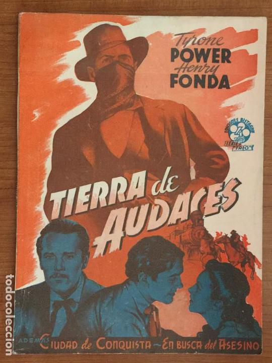 TIERRA DE AUDACES. EDICIONES BISTAGNE. SERIE TRIO. (Cine - Foto-Films y Cine-Novelas)