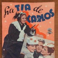 Cine: LA TIA DE CARLOS. EDICIONES BISTAGNE. SERIE TRIUNFO.. Lote 146766606