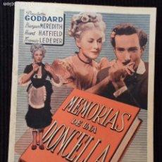 Cine: MEMORIAS DE UNA DONCELLA. EDICIONES BIBLIOTECA FILMS.. Lote 147222726