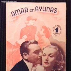Cine: AMAR EN AYUNAS.PUBLICACIONES CINEMA.. Lote 147249538
