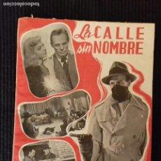Cine: LA CALLE SIN NOMBRE. EDICIONES BISTAGNE.SERIE TRIUNFO.. Lote 147250374