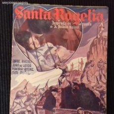 Cine: SANTA ROGELIA. EDICIONES BISTAGNE.. Lote 147252814