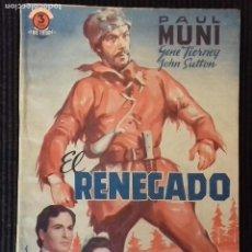 Cine: RENEGADO. EDICIONES BISTAGNE.. Lote 147252898