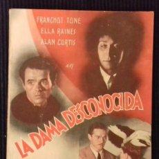 Cine: LA DAMA DESCONOCIDA.EDITORIAL GRAFIDEA.. Lote 147253990