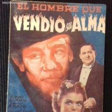 Cine: EL HOMBRE QUE VENDIO SU ALMA.EDICIONES BISTAGNE. SERIE TRIUNFO.. Lote 147252594