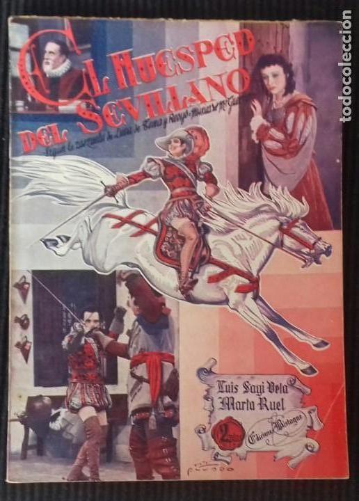EL HUESPED DEL SEVILLANO. EDICIONES BISTAGNE. (Cine - Foto-Films y Cine-Novelas)