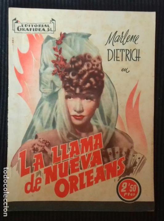 LA LLAMA DE NUEVA ORLEANS. MARLENE DIETRICH. EDITORIAL GRAFIDEA. (Cine - Foto-Films y Cine-Novelas)