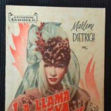 Cine: LA LLAMA DE NUEVA ORLEANS. MARLENE DIETRICH. EDITORIAL GRAFIDEA.. Lote 147474242