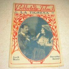 Cine: LA TIGRESA , BIBLIOTECA FILMS CON JACK HOLTY DOROTHY REVIER.. Lote 147484514