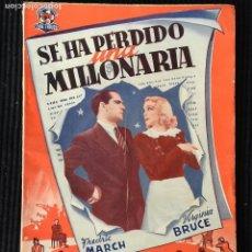 Cine: SE HA PERDIDO MILLONARIA. EDICIONES BISTAGNE.. Lote 147929190