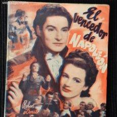Cine: EL VENCEDOR DE NAPOLEON. EDICIONES BISTAGNE.. Lote 147929898
