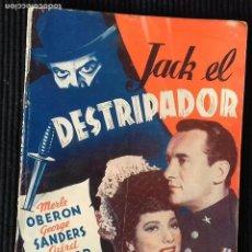 Cine: JACK EL DESTRIPADOR. EDICIONES BISTAGNE. SERIE TRIUNFO.. Lote 147930034