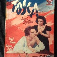 Cine: TOSCA. IMPERIO ARGENTINA. EDICIONES BISTAGNE.. Lote 147931182