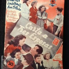 Cine: CARTA A TRES ESPOSAS. EDICIONES BISTAGNE.. Lote 147933658