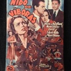 Cine: NIDO DE VIBORAS. EDICIONES BISTAGNE.. Lote 147933966