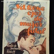 Cine: ...USTED TIENE OJOS DE MUJER FATAL. E. JARDIEL PONCELA.EDICION BIBLIOTECA FILMS.. Lote 147934342