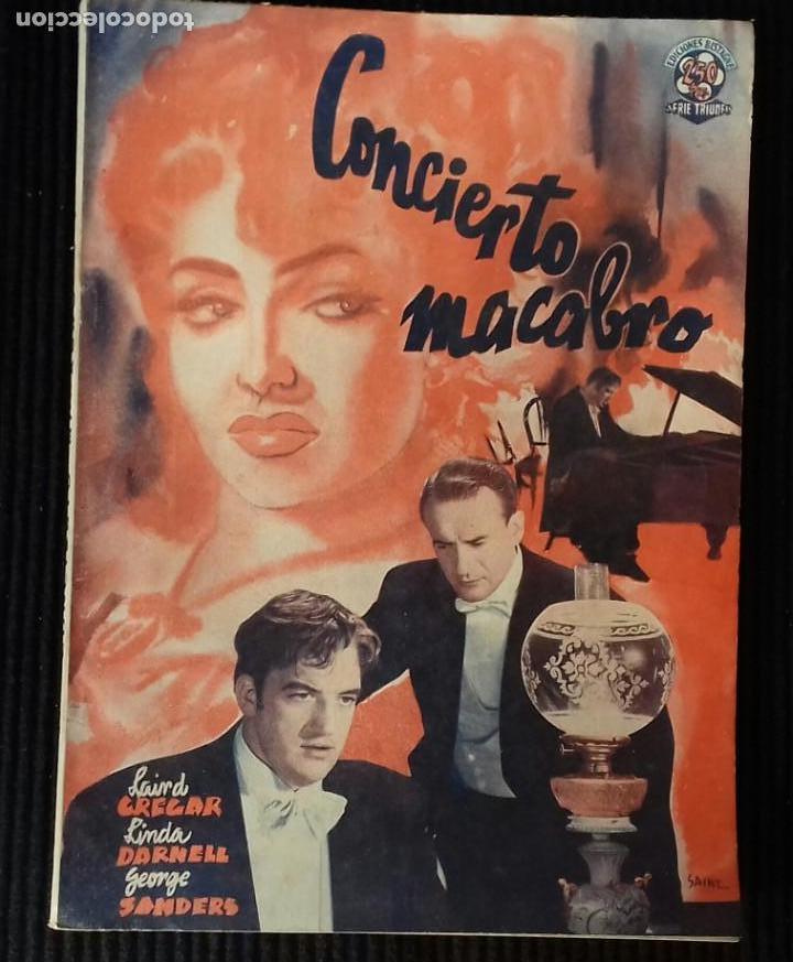 CONCIERTO MACABRO.EDICIONES BISTAGNE. (Cine - Foto-Films y Cine-Novelas)