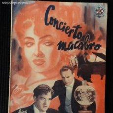 Cine: CONCIERTO MACABRO.EDICIONES BISTAGNE.. Lote 147934602