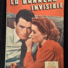 Cine: LA BARRERA INVISIBLE. EDICIONES BISTAGNE. . Lote 147934706