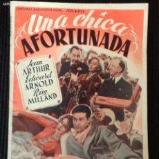 Cine: UNA CHICA AFORTUNADA. EDICIONES BIBLIOTECA FILMS.. Lote 148701774