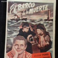 Cine: EL BARCO DE LA MUERTE. EDICIONES BIBLIOTECA FILMS.. Lote 148702154