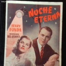 Cine: NOCHE ETERNA. HENRY FONDA, EDICIONES BIBLIOTECA FILMS.. Lote 148702262