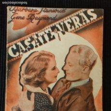 Cine: CASATE Y VERAS. BARBARA STANWICK. EDICIONES CINEMA.. Lote 148702806