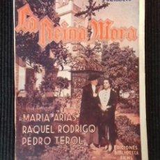 Cine: LA REINA MORA. MARIA ARIAS. EDICIONES BIBLIOTECA FILMS.. Lote 148703466