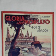 Cinéma: GLORIA DEL MONCAYO LOS DE ARAGON, Nº 13,SERIE ALFA, BIBLIOTECA FILMS, 8 PAGINAS FOTOGRAFIAS, AÑOS 30. Lote 149477542