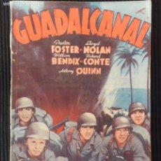 Cine: GUADALCANAL. EDICIONES BISTAGNE.. Lote 149896414