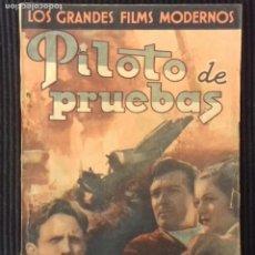 Cine: PILOTO DE PRUEBAS. EDICIONES CINEMATOGRAFICAS.. Lote 149896526