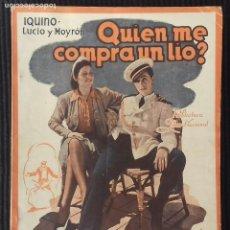 Cine: QUIEN ME COMPRA UN LIO. EDICION BIBLIOTECA FILMS.. Lote 149896878