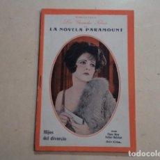 Cinema: BIBLIOTECA LOS GRANDES FILMS DE LA NOVELA PARAMOUNT - HIJOS DEL DIVORCIO - CLARA BOW-ESTHER RALSTON. Lote 150001754