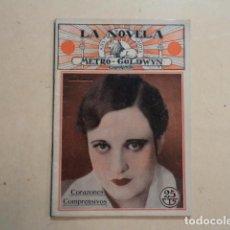 Cinema: LA NOVELA METRO-GOLDWIN Nº 19 - CORAZONES COMPRENSIVOS - JOAN CRAWFORD Y FRANCIS BUSHMAN. Lote 150001914