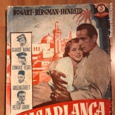 Cine: NOVELA DE LA PELÍCULA CASABLANCA HUMPHREY BOGART INGRID BERGMAN EDICIONES BISTAGNE. Lote 150764529